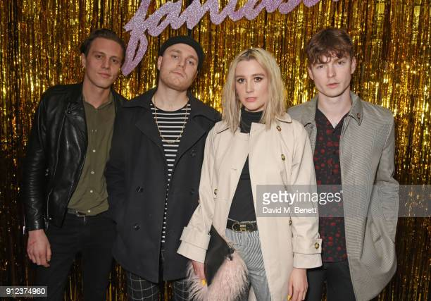 Theresa Jarvis and members of Yonaka attend the ALEXACHUNG Fantastic collection party on January 30 2018 in London England
