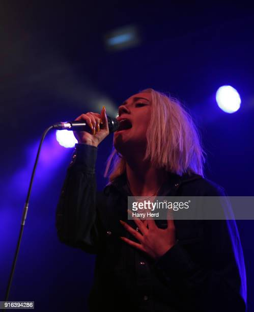 Theresa Jarvis of Yonaka performs at Pyramids Plaza on February 9 2018 in Portsmouth England