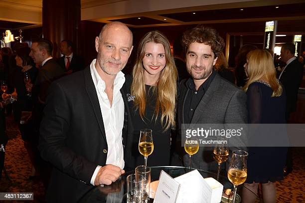 Theresa Krentzlin Simon Licht and Oliver Wnuk attend Felix Burda Award 2014 at Hotel Adlon on April 6 2014 in Berlin Germany