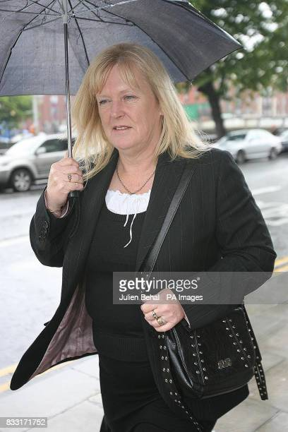 Theresa Lowe birth mother of Rachel O'Reilly arriving into Central Criminal Court in Dublin today