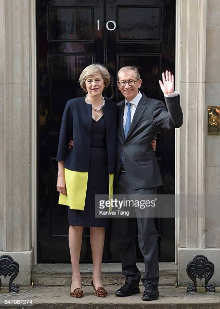 Theresa May and husband Philip John May enter 10 Downing Street on July 13 2016 in London England Former Home Secretary Theresa May becomes the UK's...