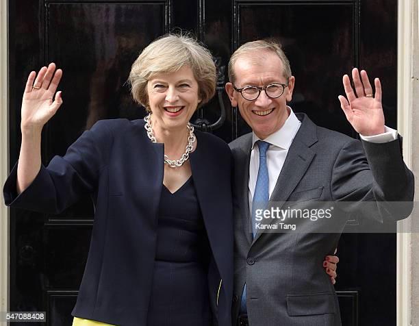 Theresa May and husband Philip John May enter 10 Downing Street on July 13 2016 in London England Former Home Secretary Theresa May becomes the UK's...