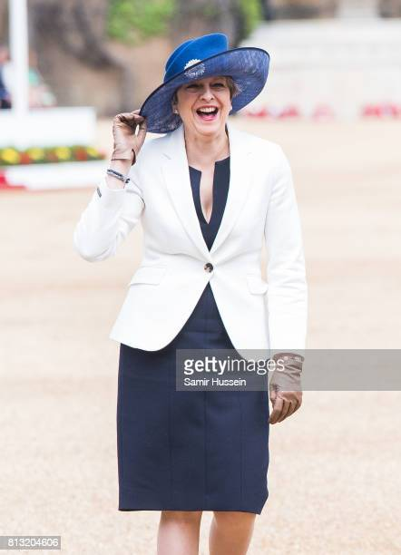 Theresa May attends a State visit by the King and Queen of Spain on July 12, 2017 in London, England. This is the first state visit by the current...