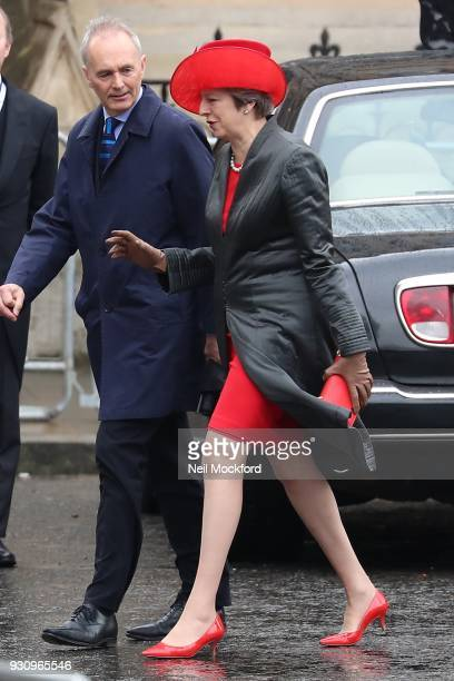 Theresa May attends the 2018 Commonwealth Day service at Westminster Abbey on March 12 2018 in London England