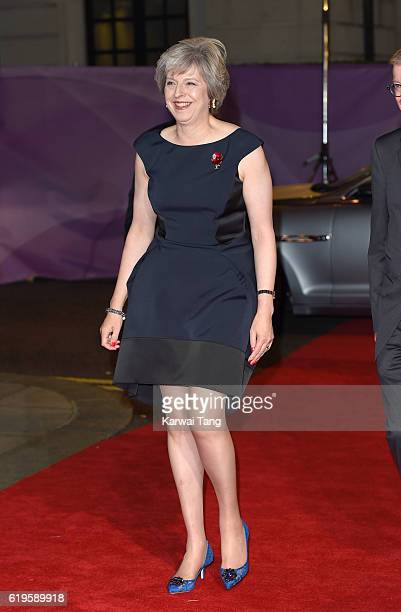 Theresa May attends the Pride Of Britain Awards at The Grosvenor House Hotel on October 31 2016 in London England