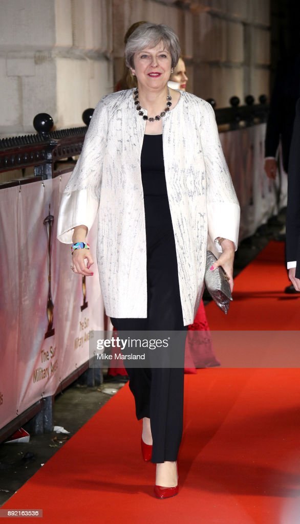Theresa May attends The Sun Military Awards at Banqueting House on December 13, 2017 in London, England.