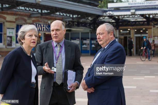 Theresa May, Conservative MP for Maidenhead, is pictured with Cllr Gerry Clark , the Royal Borough of Windsor and Maidenhead's cabinet member for...