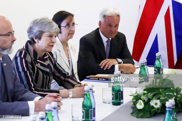 Theresa May during Western Balkans Summit at the Poznan International Fair in Poznan Poland on 5 July 2019