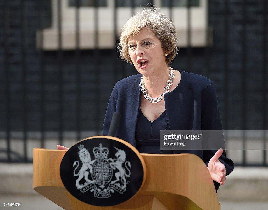 Theresa May Succeeds David Cameron As The UK's New Prime Minister : News Photo