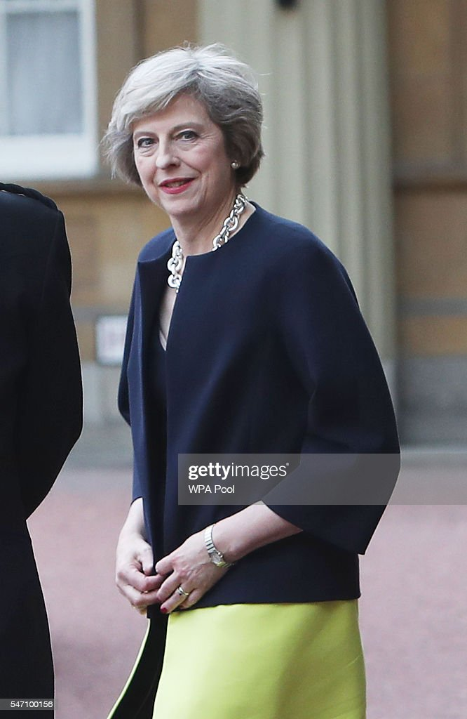 Theresa May leaves Buckingham Palace after an audience with Queen Elizabeth II where the former Home Secretary was invited to become Prime Minister and form a new government on July 13, 2016 in London, United Kingdom. Former Home Secretary Theresa May becomes the UK's second female Prime Minister after she was selected unopposed by Conservative MPs to be their new party leader. She is currently MP for Maidenhead.