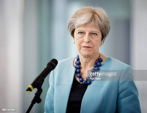 Theresa May Prime Minister of the United Kingdom captured in the chancellery on July 05 2018 in Berlin Germany