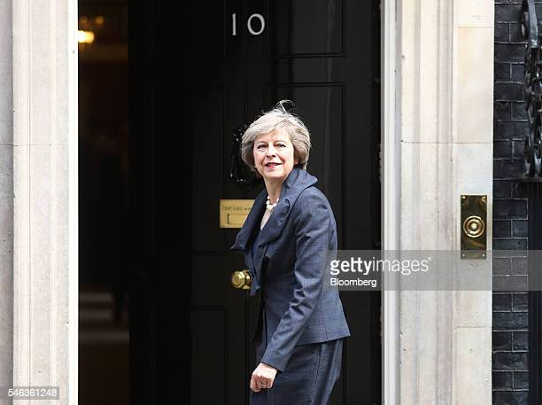 Theresa May UK home secretary arrives for a cabinet meeting in 10 Downing Street in London UK on Tuesday July 12 2016 Theresa May now has just two...