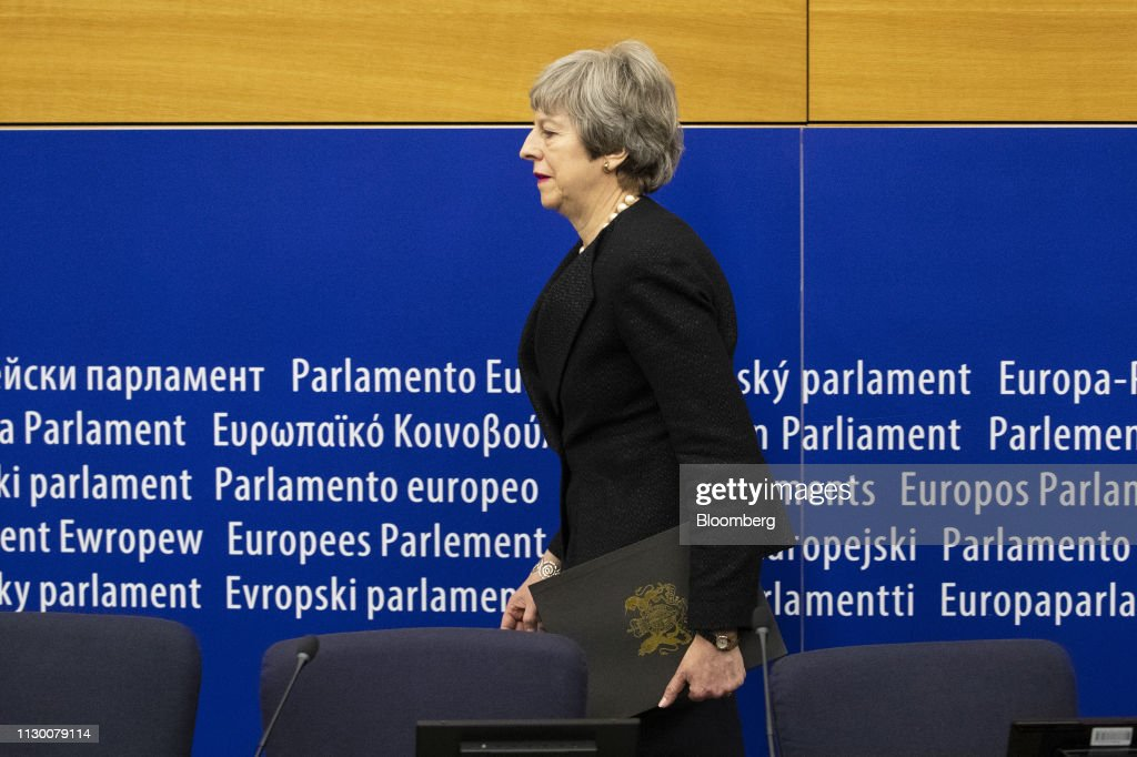U.K. Prime Minister Theresa May Holds Last Ditch Talks Ahead of Possible Brexit Vote : News Photo
