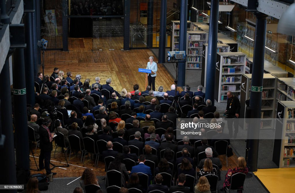 U.K. Prime Minister Theresa May Delivers A Speech On Education : News Photo