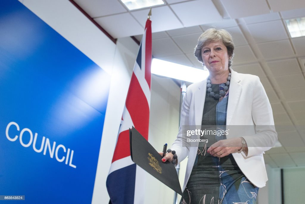European Union Leaders Attend Summit As British PM Aims For Positive Brexit 'Dynamic' : News Photo