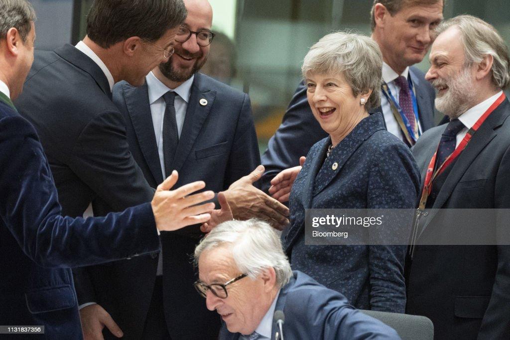 BEL: U.K. PM Theresa May Seeks EU Leaders Delay Approval in Brexit Standoff