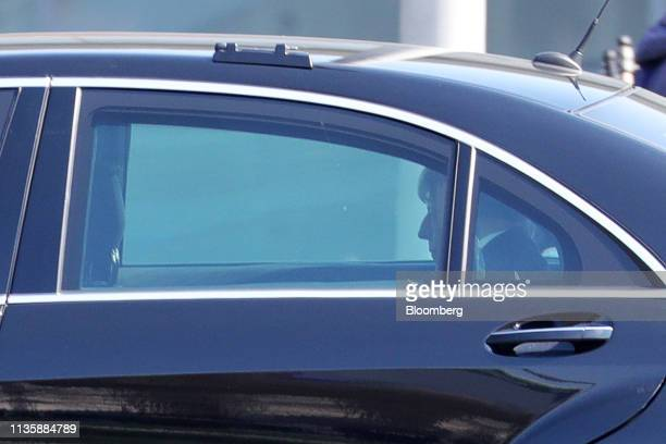 Theresa May UK prime minister leaves following talks at the Chancellery in Berlin Germany on Tuesday April 9 2019 May is visiting Berlin and Paris...