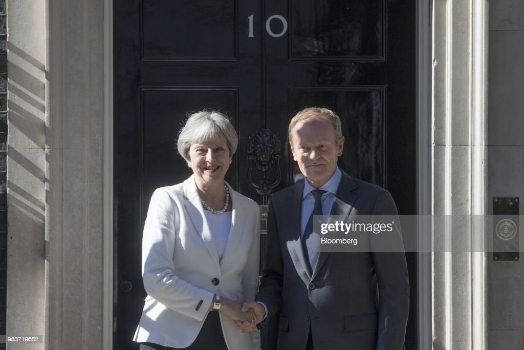 U.K. PM May And EU Leader Tusk Meet As U.K. Businesses 'Deeply Concerned' At Slow Pace of Brexit Talks