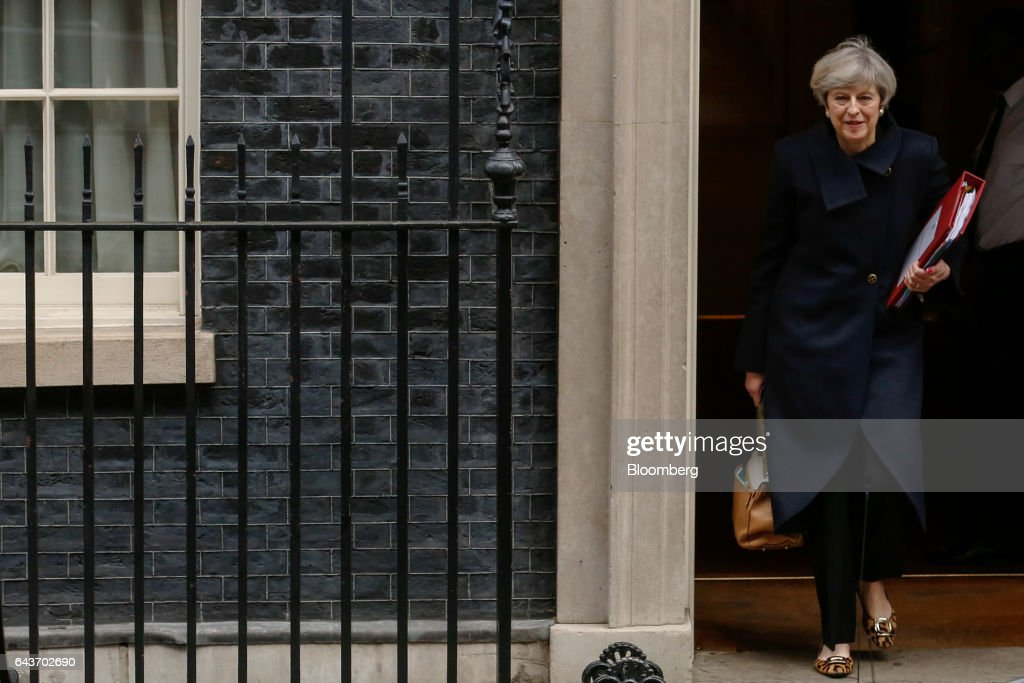 U.K. Prime Minister Theresa May Attends Weekly Question Time : News Photo