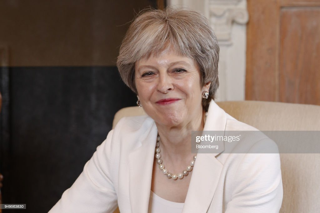 U.K. Prime Minister Theresa May Hosts Australia's Prime Minister Malcolm Turnbull At HerChequers Country Residence