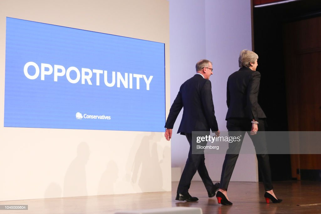 U.K. PM Theresa May's Keynote Speech At Conservative Party Annual Conference : News Photo