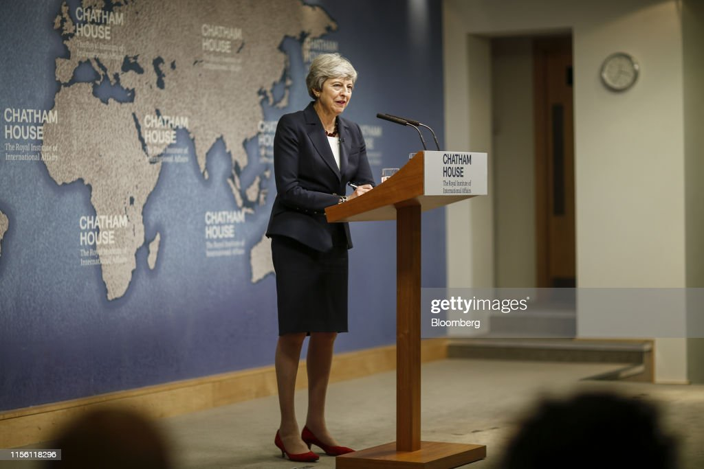 U.K. PM May Delivers A Speech On The State Of Politics : News Photo