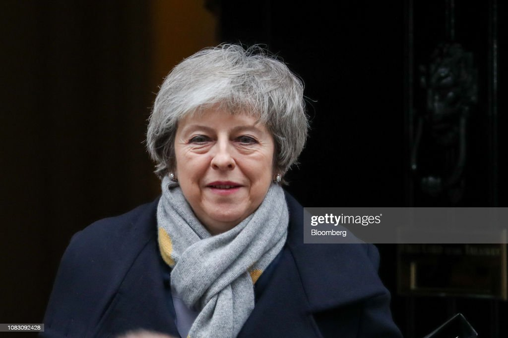 U.K. Prime Minister May Faces Parliamentary Defeat in Brexit Vote : News Photo