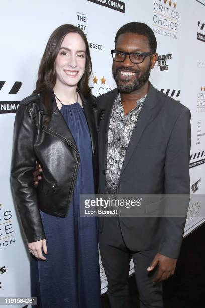 Theresa O'Leary and Shawn Edwards attend the Celebration of Black Cinema at Landmark Annex on December 02 2019 in Los Angeles California