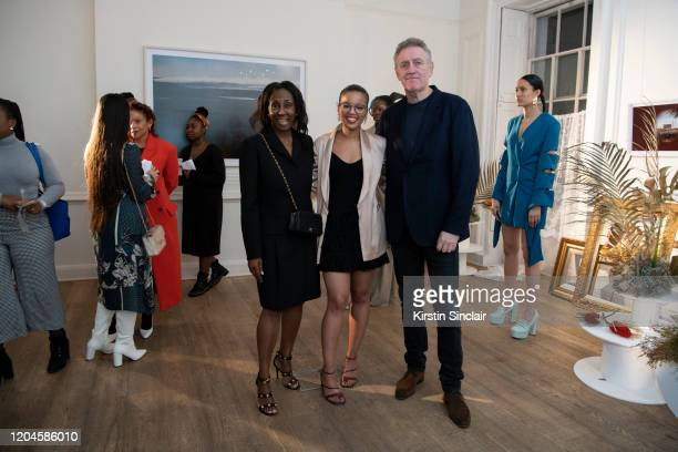 Theresa Roberts Fashion designer Shanna Bent and Andrew Roberts Maison Bent AW20 Presentation at Pushkin House on February 06 2020 in London England