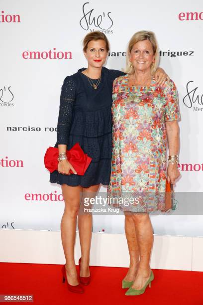 Theresa Underberg and her mother AngelaGabriele Underberg attend the Emotion Award at Curiohaus on June 28 2018 in Hamburg Germany