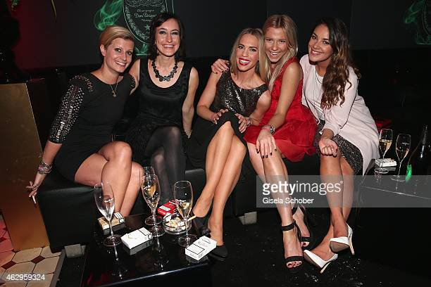 Theresa Underberg Maike von Bremen LaraIsabelle Rentinck Valentina Pahde and Janina Uhse attend the Bild 'Place to B' Party at Borchardt Restaurant...