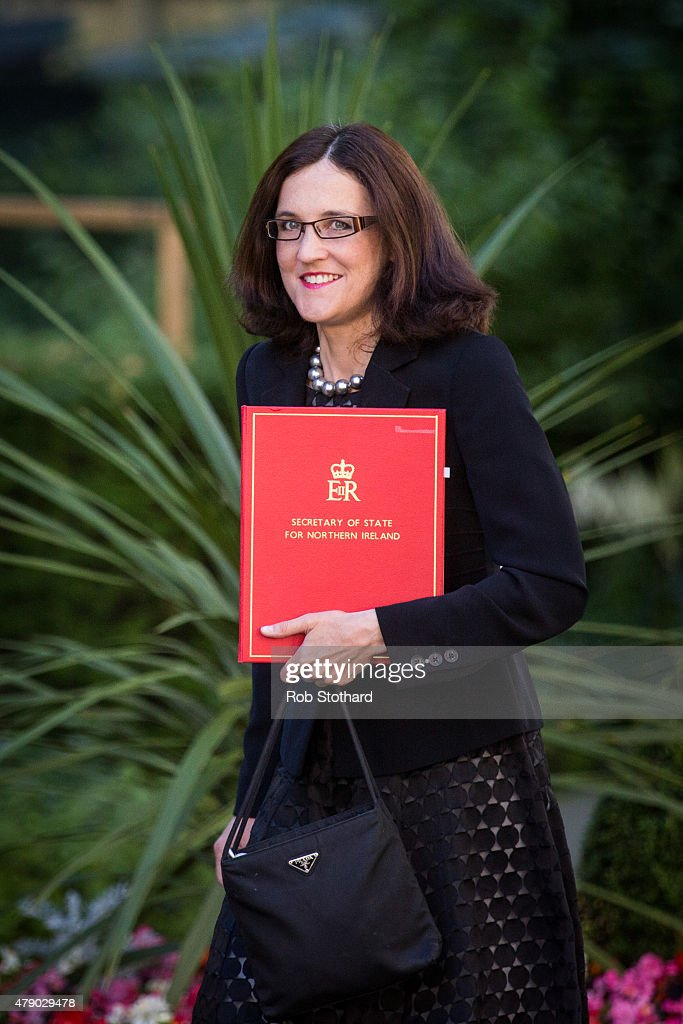 Theresa Villiers, Secretary of State for Northern Ireland, arrives at Downing Street on June 30, 2015 in London, England. Prime Minister David Cameron will chair a meeting of Government cabinet members this morning.