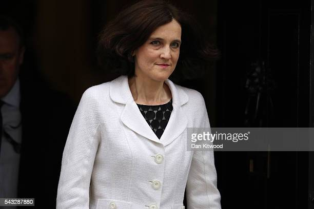 Theresa Villiers Secretary of State for Northern Ireland leaves Downing Street following a cabinet meeting on June 27 2016 in London England British...