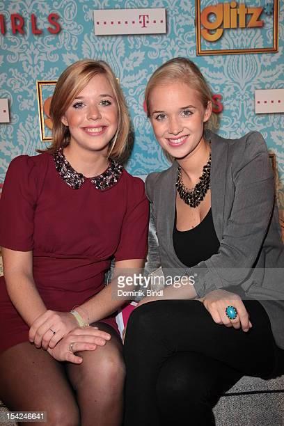 Theresa Vilsmaier and Josefina Vilsmaier attend 'Girls' preview event of TV channel glitz* at Hotel Bayerischer Hof on October 16, 2012 in Munich,...