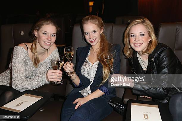 Theresa Vilsmaier Janina Vilsmaier and Josefina Vilsmaier attend the reopening party of the Gloria Palace cinema on January 10 2013 in Munich Germany