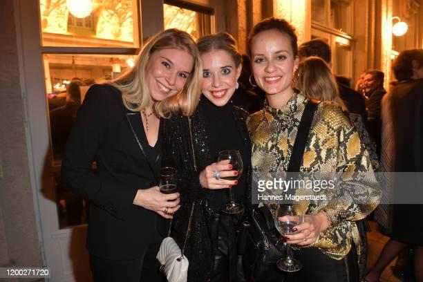 Theresa Vilsmaier Josefina Vilsmaier and Laura Roll attend the Bayerischer Filmpreis 2020 at Prinzregententheater on January 17 2020 in Munich Germany