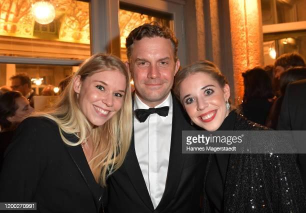 Theresa Vilsmaier Sebastian Bezzel and Josefina Vilsmaier attend the Bayerischer Filmpreis 2020 at Prinzregententheater on January 17 2020 in Munich...