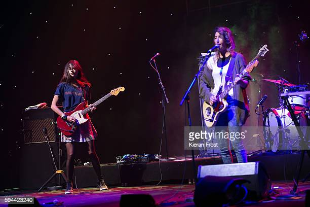 Theresa Wayman and Emily Kokal of Warpaint performs at the National Concert Hall on August 23 2016 in Dublin Ireland