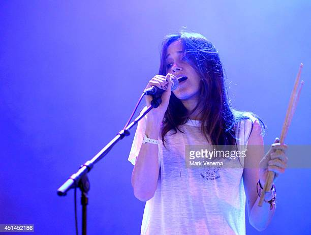 Theresa Wayman of Warpaint performs at Day 3 of Down The Rabbit Hole Festival at De Groene Heuvels on June 29 2014 in Beuningen Netherlands