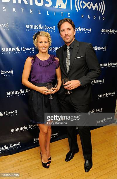 Therese Anderson and New York Rangers goalie Henrik Lundqvist attend the Launch of The World Childhood Foundation USA Campaign on SIRIUS XM at SIRIUS...