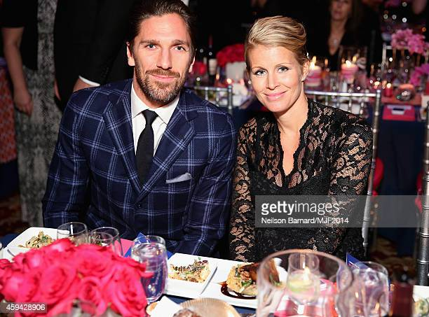 Therese Andersson and Henrik Lundqvist attend 2014 A Funny Thing Happened On The Way To Cure Parkinson's at The Waldorf=Astoria on November 22 2014...
