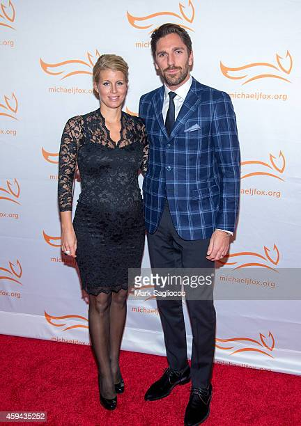 Therese Andersson and Henrik Lundqvist attend 2014 A Funny Thing Happened On The Way To Cure Parkinson's at The Waldorf Astoria on November 22 2014...