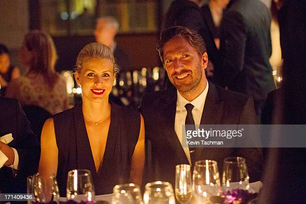 Therese Andersson and Henrik Lundqvist attend the dinner to celebrate Italo Zucchelli's ten years as Calvin Klein Collection's mens creative director...