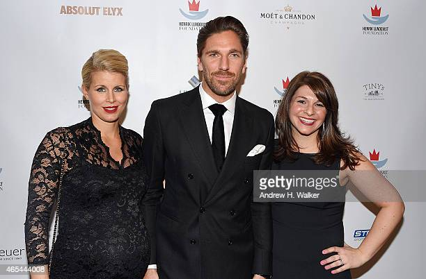 Therese Andersson NHL's NY Ranger's goalkeeper Henrik Lundqvist and Executive Director Henrik Lundqvist Foundation Meredith Wolff attend an evening...