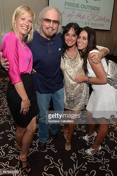 Therese Gibb Barry Gibb Linda Gibb and Stacy Gibb attend Celebrity Chefs Support Pride Outside at St Regis Bal Harbour on May 2 2013 in Miami Beach...