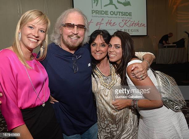 Therese Gibb Barry GibbLinda Gibb and Stacy Gibb attend Celebrity Chefs Support Pride Outside at St Regis Bal Harbour on May 2 2013 in Miami Beach...