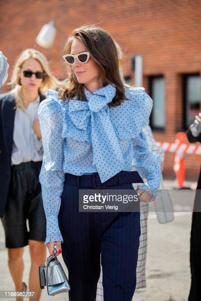 Therese Hellström seen outside By Malene Birger during Copenhagen Fashion Week Spring/Summer 2020 on August 08 2019 in Copenhagen Denmark