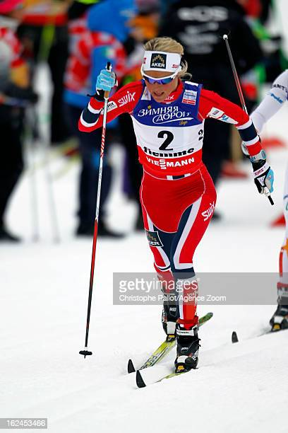 Therese Johaug of Norway competes during the FIS Nordic World Ski Championships Women's Cross Country Skiathlon on February 23 2013 in Val di Fiemme...