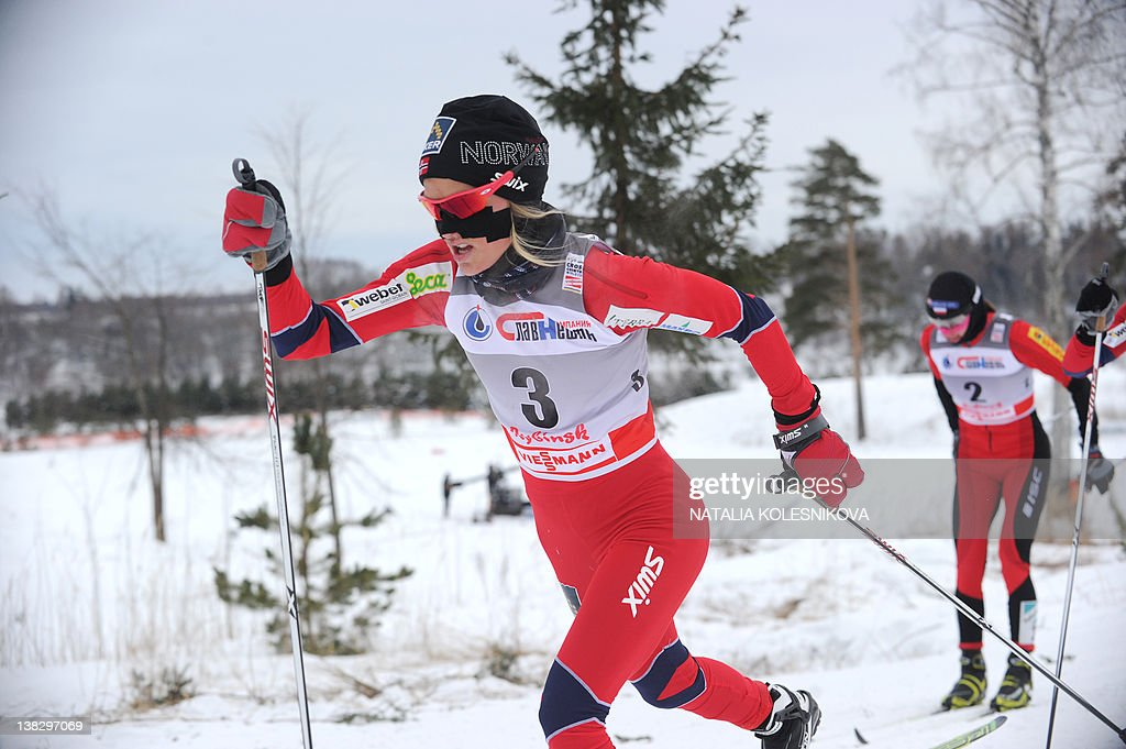 Therese Johaug of Norway competes during : News Photo
