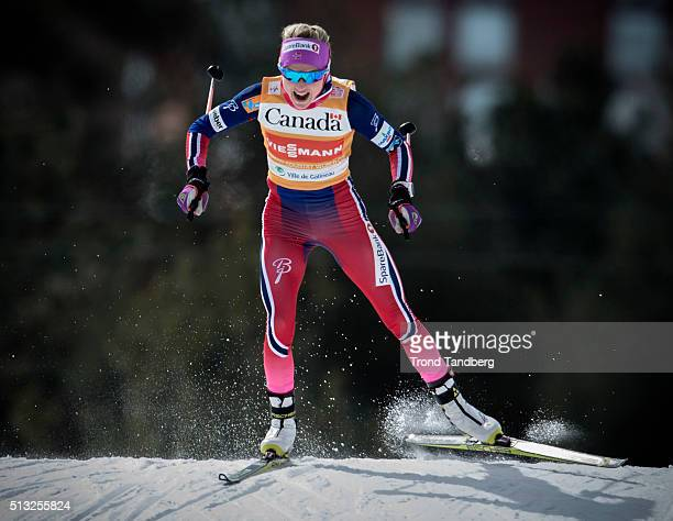Therese Johaug of Norway during Cross Country Ladies 17 km Sprint Free on March 01 2016 in Gatineau Quebec Canada